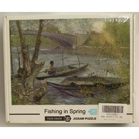 Fishing in Spring Painting 1000 PC Piece Puzzle 70cm x 50cm New and Sealed