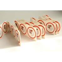 50 Vintage Santa Sticker Seals with Scalloped edges