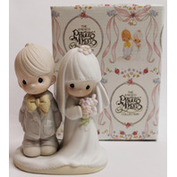 Precious Moments Figurine May the Lord Bless and Keep You Wedding Couple Bride