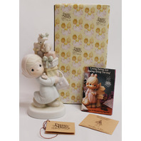 Precious Moments Figurine Bundles of Joy Gifts Presents Little Girl with Box PM