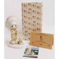 Precious Moments Figurine The Lord is Our Chief Inspiration Signed by Sam in box