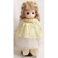 Precious Moments Classic Doll Songs of the Spirit Yellow Dress Angel Blond Hair