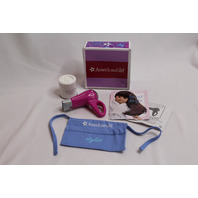 American Girl Cleansing Powder Salon Accessories Apron Hair Dryer in Box