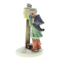 Goebel Hummel #340 TMK 5 Porcelain Letter To Santa Figurine with Backpack