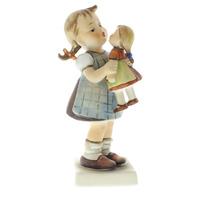Goebel Hummel #311 TMK 4 Porcelain Kiss Me Figurine Girl with Baby Doll
