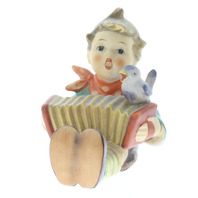 Goebel Hummel #110/0 TMK 5 Porcelain Figurine Let's Sing Boy with Accordion