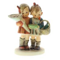 Goebel Hummel #355 TMK 5 Porcelain Figurine Going to Grandmas House Boy and Girl