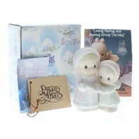 Precious Moments Figurine Sugar Town Aunt Ruth and Dorothy Caroling Girls in box