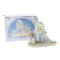 Precious Moments Figurine Miniature Monthly Figurine June Bride Little Girl