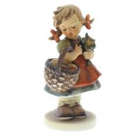 Goebel Hummel #355 TMK 5 Porcelain Figurine Autumn Harvest Girl with Apples