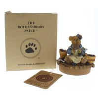"Boyds Bears Boydsenbeary Patch Jar Lid Topper Muffin B Blueberry Fits 2.75"" Jar"