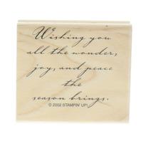 Stamping Up Wishing you Joy this Season Wooden Rubber Stamp
