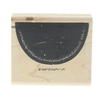 Stampin Up Slice of Watermelon 1997 Bold Wooden Rubber Stamp