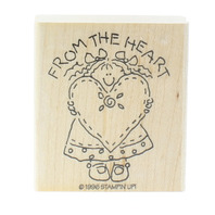 From the Heart Stampin UP 1996 Wooden Rubber Stamp