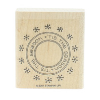 Stamping UP 2007 Tis the Season Wooden Rubber Stamp