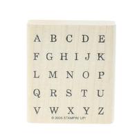 Alphabet Block Type Upper Case Letters Wooden Rubber Stamp