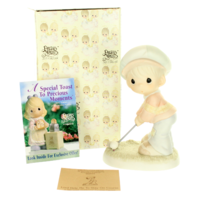 Precious Moments Figurine Lord Help me to Stay on Course Golf  Signed by Sam Box