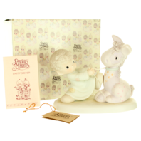 Precious Moments Figurine We are Pulling for You with Original Box Horse and Boy