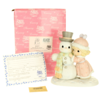 Precious Moments Figurine Snow Man Like My Man Signed by Sam Snowman in Box