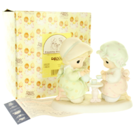 Precious Moments Figurine Friendship Hits the Spot Tea Time in Original Box