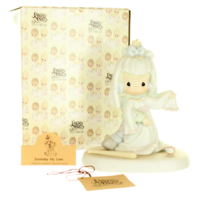 Precious Moments Figurine Someday My Love Tomboy Bride Wedding Original Box
