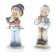 Goebel Hummel Porcelain Figurine Serenade Boy and Band Leader TMK 6 Lot of 2