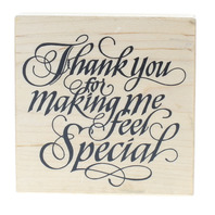 PSX G-1553 Thank you for Making me Feel Special Wooden Rubber Stamp