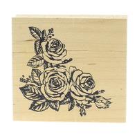 Embossing Arts Rose Corner Border 1992 Wooden Rubber Stamp