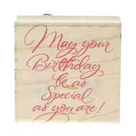 Hero Arts May Your Birthday be as Special as You Quote Wooden Rubber Stamp