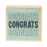 Studio G Congrats Celebration Words Writing Wooden Rubber Stamp
