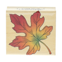 Hero Arts Maple Lear Fall Autumn Inspired E-1132 Wooden Rubber Stamp