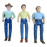 Fisher Price Loving Family Dad Lot Western Brunette and Blond Hair DW20121