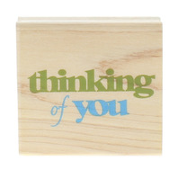 Delta Thinking of You Rubber Stampede Words Writing Wooden Rubber Stamp