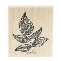 Stampin Up Leaf Botanical Garden Fern Wooden Rubber Stamp