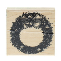 Stampendous Fun Stamps 1989 Heart Wreath Wooden Rubber Stamp