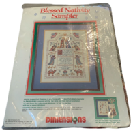 Counted Cross Stitch Dimensions Blessed Nativity Sampler Baby Jesus New Sealed