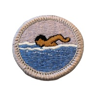 BSA Boy Scout Merit Badge Swimming Embroidered Uniform Patch