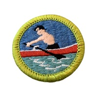 BSA Boy Scout Merit Badge Rowing Embroidered Uniform Patch