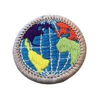 BSA Boy Scout Merit Badge Citizenship in the World Embroidered Uniform Patch