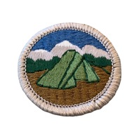 BSA Boy Scout Merit Badge Camping Tent Embroidered Uniform Patch