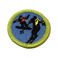 BSA Boy Scout Merit Badge Snow Sports Skiing Snowboarding Uniform Patch