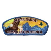 Grand Teton Council Cedar Badge  BSA Boy Scout Merit Badge Uniform Patch