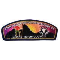 Grand Teton Council Firm m as Mountains BSA Boy Scout Merit Badge Uniform Patch