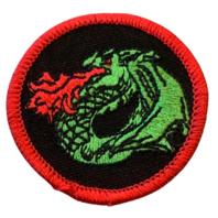 Flaming Dragon Merit Boy Scout Badge Uniform Patch