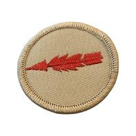 Red and Beige Arrow Merit Boy Scout Badge Uniform Patch