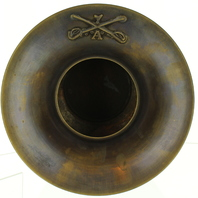 Spitoon Solid Brass with Antiqued Patina and 7th Cavalry Tag