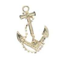 Nautical Ocean Travel the Sea Anchor Gold tone Pin Brooch Broach