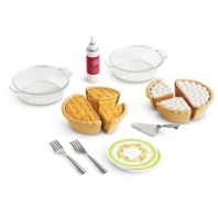 "American Girl AG Truly Me Pie Baking Set for 18"" Dolls Plates Pans Utensils"