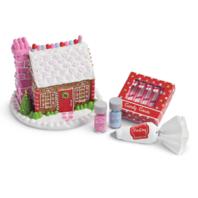 American Girl AG Wellie Wisher Festive Gingerbread House Set for Dolls