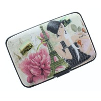 Paris Collage Expandable Multi Card Organizer Credit Card Wallet Gift
